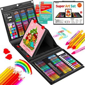222 Pack Kids Art Set Girls Boys Children Teens Painting Coloring Drawing Kit