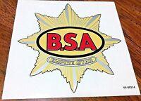Pre-WW2 BSA Empire Star gas petrol tank yellow red silver vinyl transfers, pair