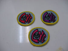 """50 Vintage """"LOVE""""  Smiley Face,2"""" Round -pink/red/orange letter embroidered/iron"""