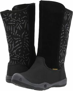 KEEN Kids' Youth Moxie Tall Boots Waterproof Black Magnet Toddler Size 8 New
