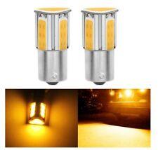 Ampoule LED BAU15S ORANGE 1156 PY21W COB pour Clignotants Repetiteur 2pcs