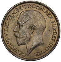 1917 HALFPENNY - GEORGE V BRITISH BRONZE COIN - V NICE