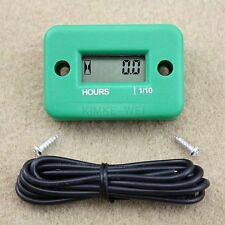 Inductive Hour Meter for Marine ATV Motorcycle snowmobile - Green