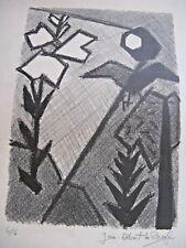 """RARE LITHOGRAPHIE """"PAYSAGE"""" ECOLE PARIS 1950 Signé JEAN-ALBERT DE BROGLIE N°6/6"""