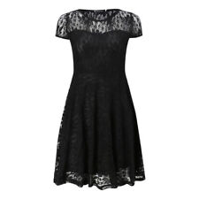 UK NEW Women Ladies Lace Short Sleeve Cocktail Party Cocktail Mini Skater Dress