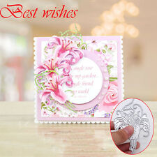 Flower New Metal  DIY Cutting Dies Stencils Scrapbooking Album Paper Card Craft
