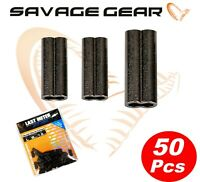 Savage Gear DOUBLE BARREL CRIMPS All Sizes For Sea Pike Fishing Stingers Traces