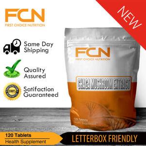 Chaga Mushroom Extract - 240 Tablets | 30% Polysaccharides | 2-3+ months Supply