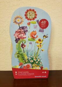 "Flower Tower Puzzle, 39 Piece 48"" Tall Complete By Crocodile Creek Sealed"