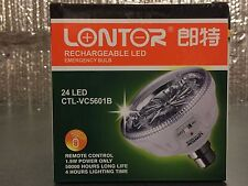 LONTOR Rechargeable LED Remote Control Emergency Bulb