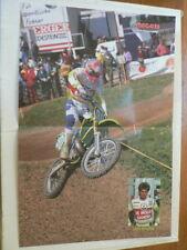 A501-DAVE STRIJBOS NO 90 DE MOLEN BANDEN MX MOTOCROSS POSTER 1990 ? KAWASAKI