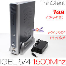 1500mhz Thin Client Igel 5/4 512mb ddr2 di RAM 1gb CF con rs-232 DVI Parallelo 12v
