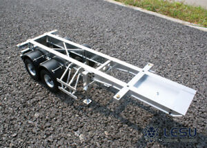20 Feet Metal Box Container Trailer for 1/14 LESU TAMIYA RC Tractor Truck Model