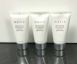 Mally Perfect Prep Pore Difuser And Skin Neutralizer-Lighter LOT OF 3!1oz(NWOB)