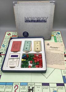 Monopoly - Schmidt Spiele 1964 - Holzfiguren - Silber - Vollständig + Anleitung