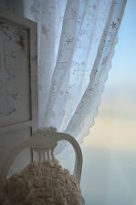 Van Deurs Gardine Offwhite 200 x 250 Landhaus Shabby Chic Vintage Vogel