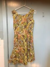 Tree Of Life Tiki Style Dress In Autumn Colours In Size S