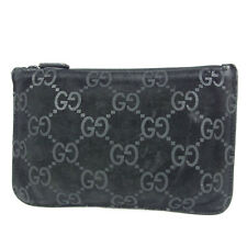 Auth GUCCI GG Logos Guccissima Leather Cosmetic Pouch Mini Bag Italy F/S 15684b