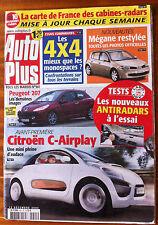 AUTO PLUS du 13/12/2005; Citroën C-Airplay/ Peugeot 207/ Mégane restylée