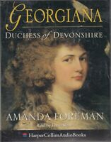 Georgiana Duchess of Devonshire Amanda Foreman 2 Cassette Audio Book Fiona Shaw