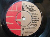 """Steve Harley & Cockney Rebel – Mr Raffles (Man It Was Mean) 1975 7"""" EMI 2299"""