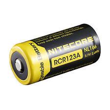 Nitecore NL166 RCR123A Battery, 650mAH