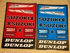 Suzuki 2 Pack Stickers 2xRED Decals Graphics Kit Sheet Mx Motorcross Rm