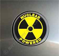 Nuclear Powered Funny Sticker Vinyl Decal Radioactive Car Gas Cap Sticker Laptop
