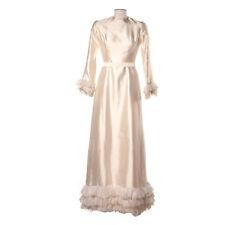 Vintage Pauline Trigere Maxi Dress Ivory Silk Wedding Long Sleeve 4