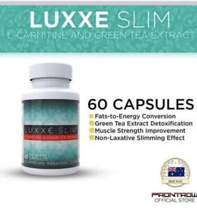 100% AUTHENTIC Luxxe Slim L-Carnitine and Green Tea Extract 60 Slimming Capsules