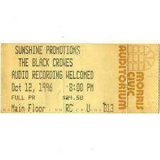 The Black Crowes Concert Ticket Stub South Bend Indiana 10/12/96 Morris Civic