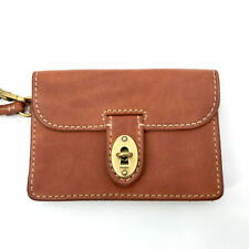Fossil Austin Womens Wristlet Leather Brown Small