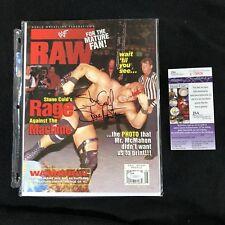 STONE COLD STEVE AUSTIN SIGNED WWE RAW MAGAZINE JSA COA AUGUST 1998