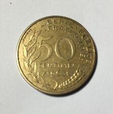 50 centimes LAGRIFFOUL 1963 col 3 plis Num12