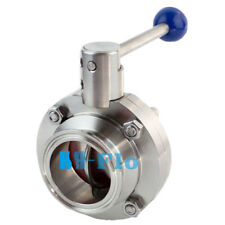 1 Inch Sanitary Stainless Steel 304 Butterfly Valve Tri Clamp Food Grade