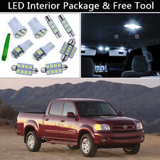 7PCS White LED Interior Car Lights Package kit Fit 2000-2004 Toyota Tundra J1
