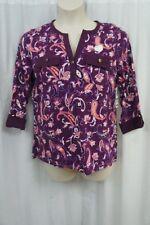Charter Club Woman Top Sz 2X Napa Vineyard Purple Combo Pima Cotton Casual Top