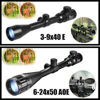 3-9X40E/6-24x50 Optics Rifle Scope R & G Crosshair Gun Scopes