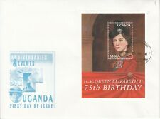 2001 Uganda Royalty Victoria QEII 2 First Day Covers
