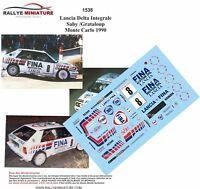 DECALS 1/18 REF 1538 LANCIA DELTA INTEGRALE SABY RALLYE MONTE CARLO 1990 RALLY