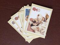 F1f postcard unused x 5 royal mail christmas nativity 1984 cards
