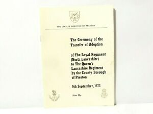 1972 Ceremony Transfer of Adoption North Lancashire Regiment Preston Programme