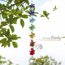 Chakra Crystal Suncatcher Handmade Prisms Pendant Wedding Decor Healing Gift
