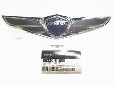 Front Hood 3D Black Carbon Wrap Wing Emblem Badge 1PC For Genesis G80 2017 2018+