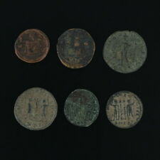 Ancient Coins Roman Artifacts Figural Mixed Lot of 6 B6310