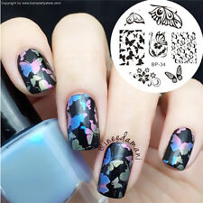 Nail Stamping Plates Butterfly Pattern Nail Art Stamp Template Image Born Pretty