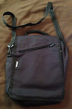 Mens/Womens Travelwell Black Canvas Crossbody Travel Bag Converts to Backpack!
