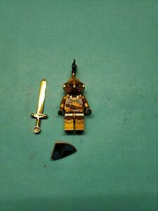 Lego Castle Minifigure Fantasy Era - Gold Knight Armor Sword Shield 7079!