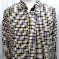 Men's VIYELLA Plaid Flannel Cotton Wool Blue Shirt Size 3XT 3XLT 3XL XXXL Tall