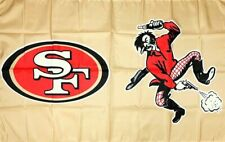 San Francisco 49ers Retro NFL Flag 3x5 ft Sports Gold Banner Man-Cave Garage Bar